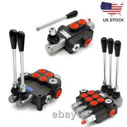 1/2/3 Spool Hydraulic Directional Control Valve Adjustable 11GPM for Loaders