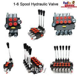 1-6 Spool Hydraulic Monoblock Directional Control Valve 21GPM for Log Splitter