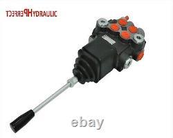 1x FLOATING 2 Bank Hydraulic Directional Control Valves JOYSTICK 1xDA 40L 11gpm