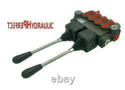1x FLOATING 4 BANK Hydraulic Directional Control Valve 2x JOYSTICK 11gpm 40L DA