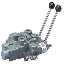 25 GPM HYDRAULIC SPOOL CONTROL VALVE 4 Way 3000 PSI Commercial Industrial