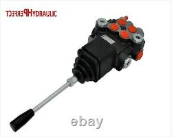 2 Spool Hydraulic Directional Control Valve JOYSTICK 21gpm 80L double acting