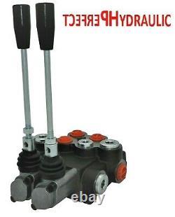 2x FLOATING 2 Spool Hydraulic Directional Control Valves 2x DA Double 40L 11 gpm