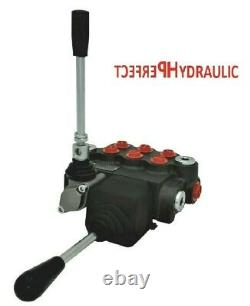 3 BANK Hydraulic Directional Control Valve JOYSTICK 11gpm 40L 3x double acting