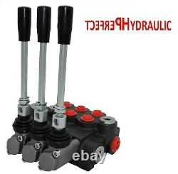 3 Bank Hydraulic Directional Control Valve 21gpm 80L Double Acting Cylinder DA