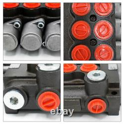 3 Spool Hydraulic Directional Control Valve Pressure Valves 11 GPM for Loaders