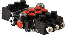 3 spool hydraulic solenoid directional control valve 13gpm 12VDC, monoblock