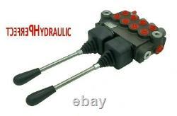 4 Spool Hydraulic Directional Control Valve 2x JOYSTICK 11gpm 40L 4x DA Double