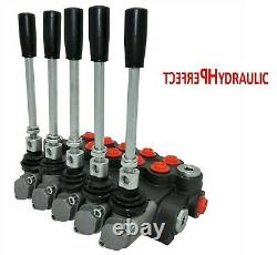 5 Spool Hydraulic Directional Control Valve 11gpm 40L Double Acting Cylinder DA