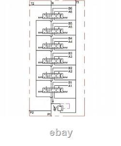 6 BANK Hydraulic Directional Control Valve 2x JOYSTICK 11gpm 40L 6x Double 5xDA