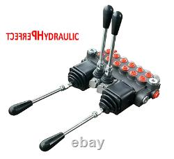 6 BANK Hydraulic Directional Control Valve 2x JOYSTICK 11gpm 40L 6x Double 6xDA