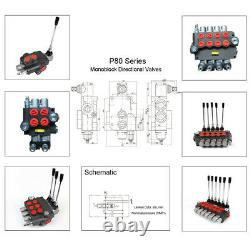 6 Bank Hydraulic Monoblock Directional Valve 21 GPM 80L/min for Dumps Tractors