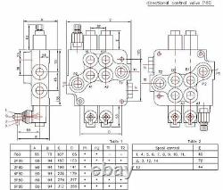 6 spool hydraulic directional control valve 21gpm, double acting cylinder spool