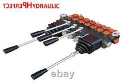 7 BANK Hydraulic Directional Control Valve 2x JOYSTICK 11gpm 40L 7x Double 7xDA