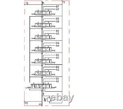 7 Spool Hydraulic Directional Valve 2x JOYSTICK 11gpm 40L 6x DA 1x Floating