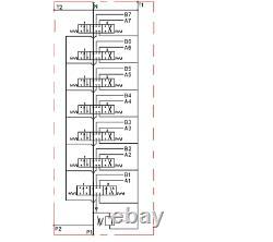 7 Spool Hydraulic Directional Valve 2x JOYSTICK 11gpm 40L 6x Double 1x Single