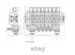 8 Bank Hydraulic Directional Valve for Forest Crane Logging Trailer 90L 2x Joy