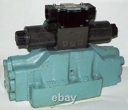 D08 4 Way Open Hydraulic Solenoid Valve i/w Vickers DG5S-8-S-0C-E-T-WL 12 VDC