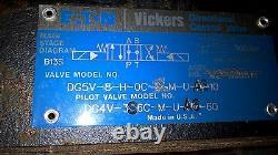 Eaton Vickers Dg5v-8-h-0c-m-u-a6-10 Directional Control Valve C/w Dg4v-3s Valve