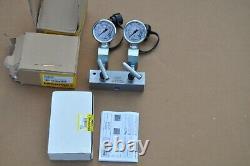Enerpac AM21 Hydraulic Split Manifold Valve, 2 Way, WITH GA45GC GAUGES NEW