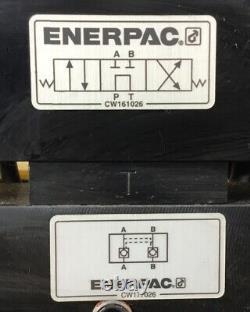 Enerpac PER1401B Electric Pump 4-Way Valve 115V 13.5A 1Ph 0-10,000PSI. 4E