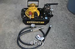 Enerpac Za4608mx Air Driven Hydraulic Pump 3way Valve Hose Gauge Service Ready