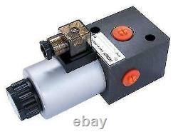 Flowfit Hydraulic 3 WAY SOLENOID DIVERTER MAX FLOW 80L/MIN, 1/2 BSP 12 VDC