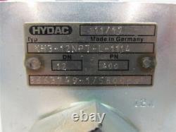 HYDAC 2061024, Type KH3, 5800 PSI, 1/2 NPT, 3 Way High Pressure Ball Valve