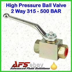 HYDRAULIC BALL VALVE BSP Isolating Shut Off Lever 2 / 3 Way Steel High Pressure