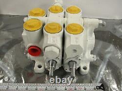 Husco 6000-b219 C Hydraulic Directional Control Valve 2 Spool 6004-d 6005-w