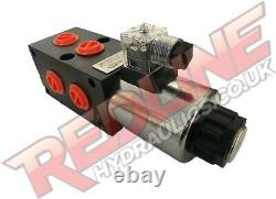Hydraulic Diverter Valve 3/8 Bsp Ported 6 Way Hydraulic Adaptor  Redline Sa6v38
