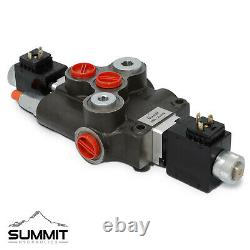 Hydraulic Monoblock Solenoid Directional Control Valve 1 Spool 21 GPM 24V Switch