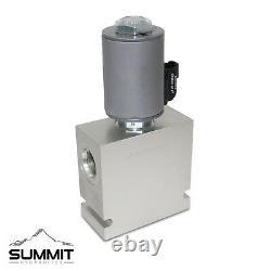Hydraulic Selector Diverter Valve, 3-Way, #12 SAE Ports, 16 GPM, 12v DC, 3500PSI