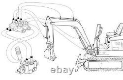 Hydraulic solenoid 6/2 way diverter/ selector valve 1/2BSP 12VDC 13gpm