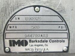 IMO 9447R0A03 2 Pos 4 Way BARKSDALE Hydraulic Valve 500 psi Valve 1 1/2 NOS
