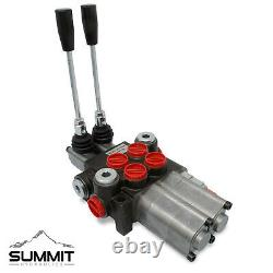 Monoblock Hydraulic Directional Control Valve, 2 Spool with Dual Float Detent