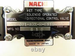Nachi SS-G01-A3X-R-E115-E20 Hydraulic Directional Control Solenoid Valve 120V