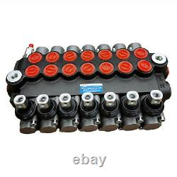 P40 7 Spool Hydraulic Directional Control Valve 13gpm (60L/min) for Log Splitter