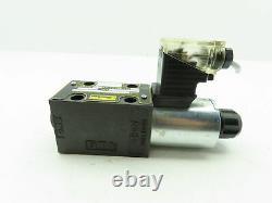 Parker D1VW020BNJP5 Hydraulic Directional Control Solenoid Valve 24VDC D1VW