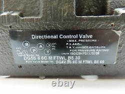Parker DG5S 8 6C M FTWL B5 30 Hydraulic Directional Control Solenoid Valve 120V