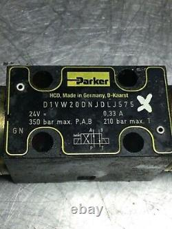 Parker Hydraulic Directional Control Valve, D1VW20DNJDLJ575, 24VDC, Used