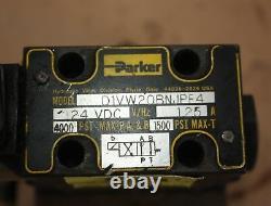 Parker Solenoid Directional VALVE ON MANIFOLD D1VW20BNJPF4 24VDC 4000PSI