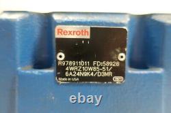 Rexroth 4WRZ10W85-51/6A24N9K4/D3MR Hydraulic Directional Control Valve