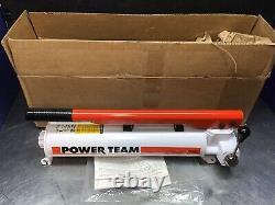 Spx Power Team P-159d Hydraulic Hand Pump 2 Speed 4 Way Valve