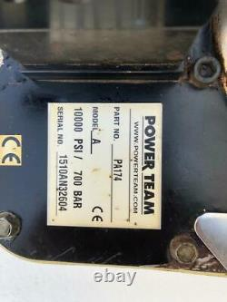 Spx Power Team Pa174 Air Pneumatic Hydraulic Pump/ Power Pack 4 Way Valve