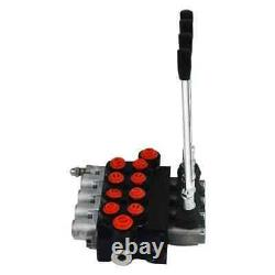 UK 4 Spool Hydraulic Directional Control Valve 11gpm 40L Double Acting Cylinder