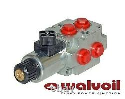 Walvoil Solenoid Spool Diverter Valve, 6 Way